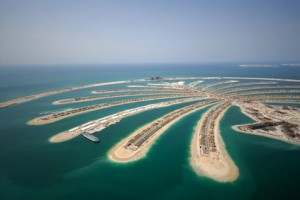 Development Of The Palm Jumeirah In Dubai