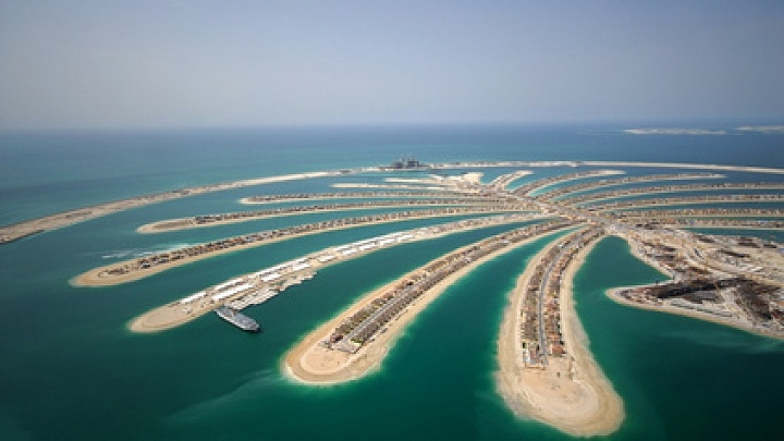Development Of The Palm Jumeirah In Dubai