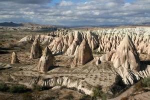 Landschaft nahe Göreme, Kappadokien - Türkei